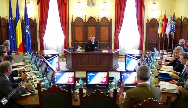 Foto: CSAT se reunește în şedinţă. ARMATA, PE ORDINEA DE ZI