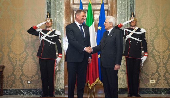 """Foto: Iohannis, întâlnire  cu omologul italian.  """"Am discutat despre  relația economică"""""""