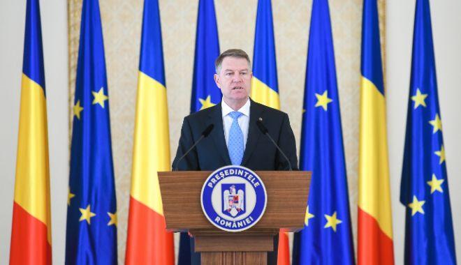 Foto: Klaus Iohannis face declarații de presă