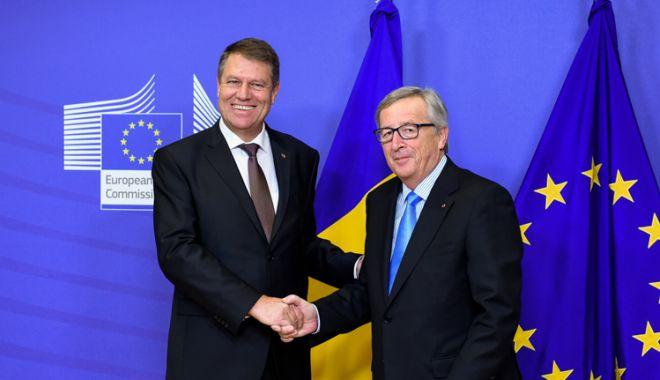 Foto: Președintele Iohannis, vizită la Bruxelles. Legile Justiției, pe agenda întâlnirilor sale cu Juncker și Tusk