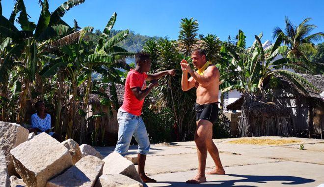 Foto: Ionuț Iftimoaie, antrenor de kickboxing în Madagascar