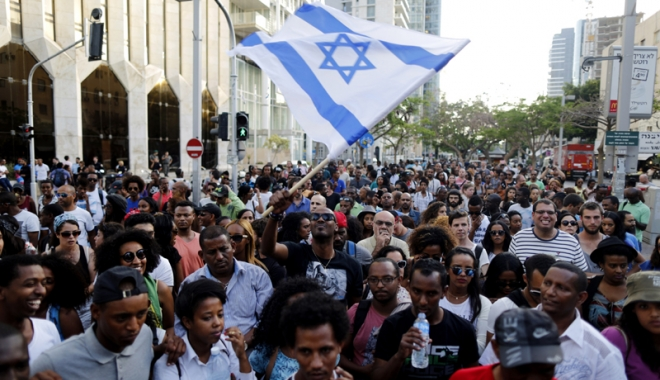 Foto: Israel: Zeci de mii de oameni au manifestat la Tel Aviv împotriva corupţiei