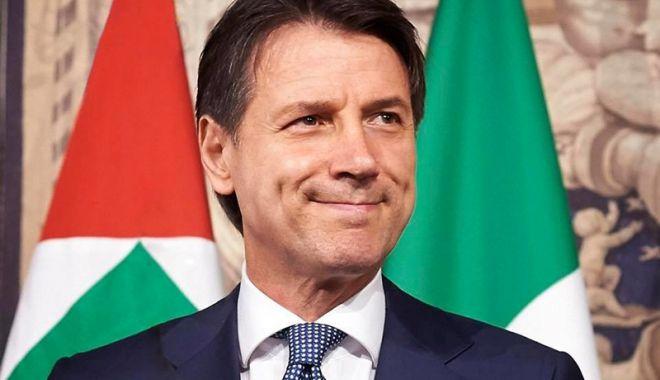 Foto: Italia: Premierul Giuseppe Conte  a obținut votul de încredere al Senatului