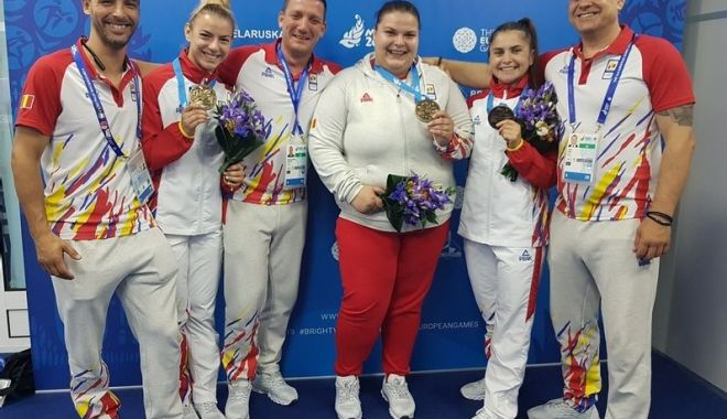 Foto: Primele medalii pentru România, la Jocurile Europene de la Minsk