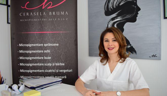 Foto: Specialistul în dermopigmentare Cerasela Brumă, cadou de sărbători bolnavelor de cancer
