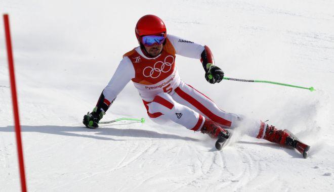 Foto: Austriacul Marcel Hirscher, campion olimpic la slalom uriaş