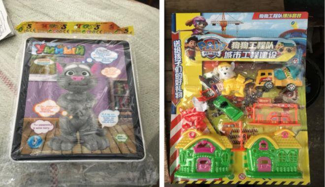 Foto: Jucării venite din China, confiscate în Portul Constanţa Sud Agigea