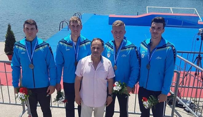 Foto: Kaiaciştii de la CS Agigea,  pe podiumul Campionatelor Europene
