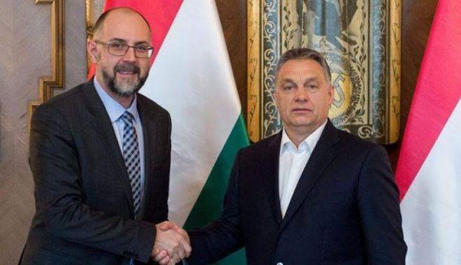 Foto: Kelemen Hunor l-a felicitat  pe Viktor Orban pentru victoria în alegerile parlamentare