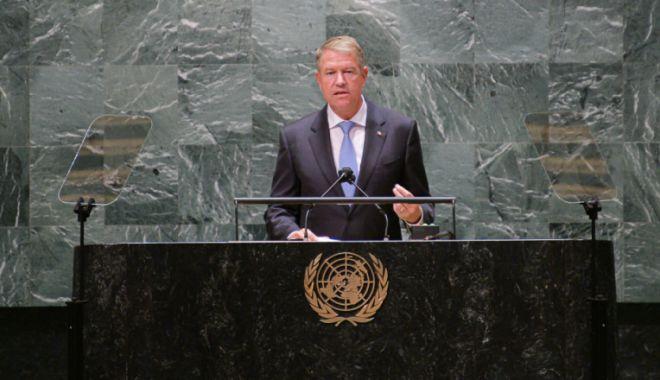 Klaus Iohannis, la Adunarea Generală a ONU: România se implică și ia măsuri. Împreună putem opri schimbările climatice - klaus-1632324140.jpg