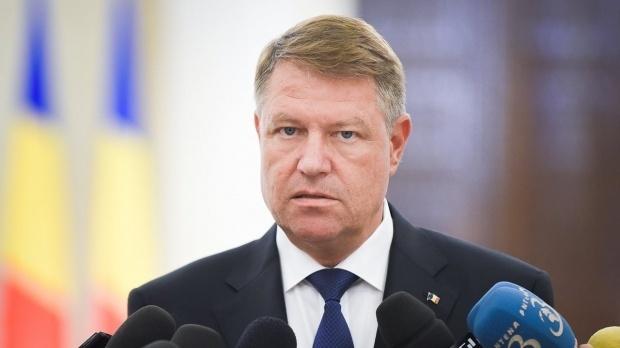 Foto: Klaus Iohannis face declarații la 14:40