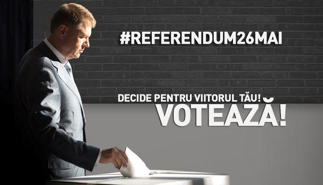 Foto: Klaus Iohannis îi îndeamnă pe români să voteze la referendum