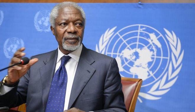Foto: Kofi Annan a murit. Fostul secretar general al ONU avea 80 de ani