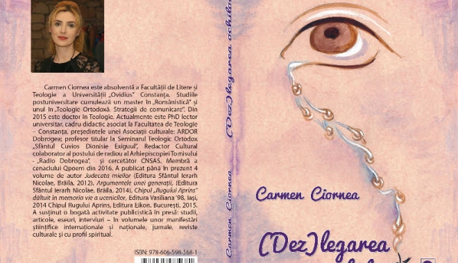 """Foto: A fost lansat volumul de poezii  """"(Dez)legarea ochilor"""""""