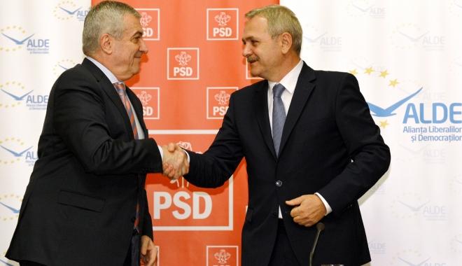 Foto: Liderii PSD şi ALDE şi-au asumat proiectul legii salarizării unitare
