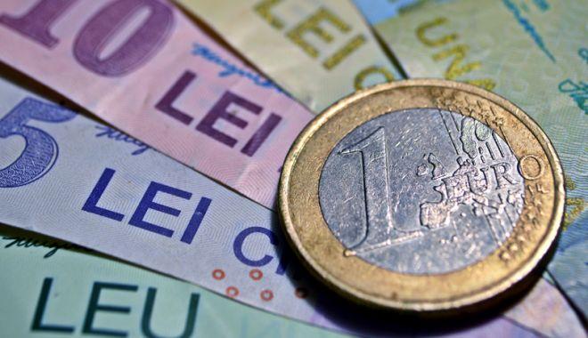 Foto: Leul cedează la dolar și francul elvețian, dar câștigă la eu