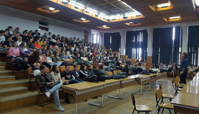 Foto: Caravana SNSPA  la Liceul