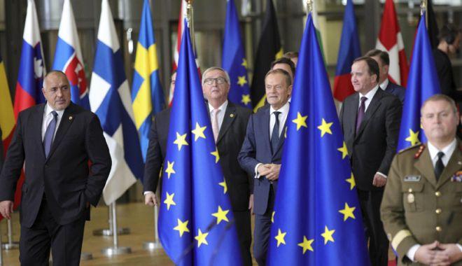Foto: Liderii din UE, reuniţi la Bruxelles sub presiunea de a găsi soluţii la criza migraţiei