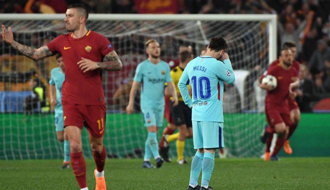 Foto: Bomba anului în fotbal. Barcelona, surclasată la Roma şi eliminată din Liga Campionilor