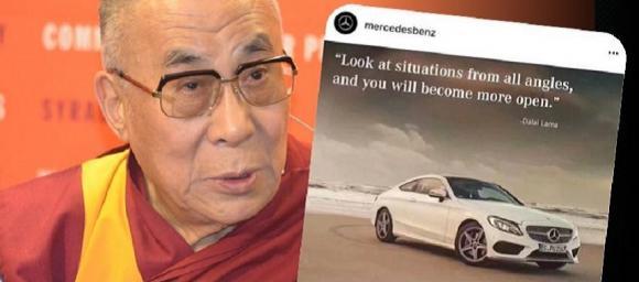 Foto: Mercedez-Benz prezintă scuze Chinei după ce îl citează pe Dalai Lama pe Instagram