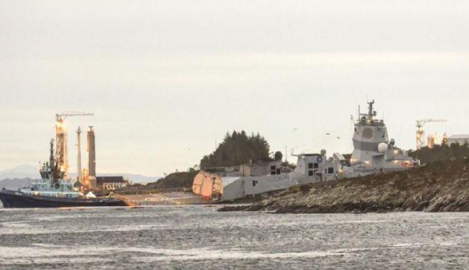 Foto: Accident la sfârșitul exercițiului NATO Trident Juncture: un petrolier maltez s-a ciocnit cu o fregată norvegiană