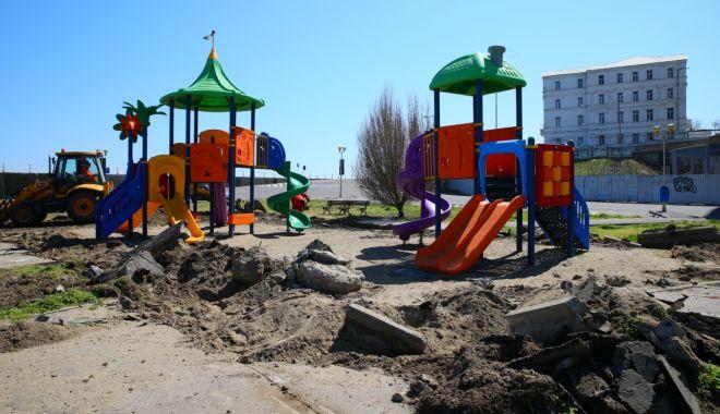 Foto: Locul de joacă din Portul Tomis se extinde!