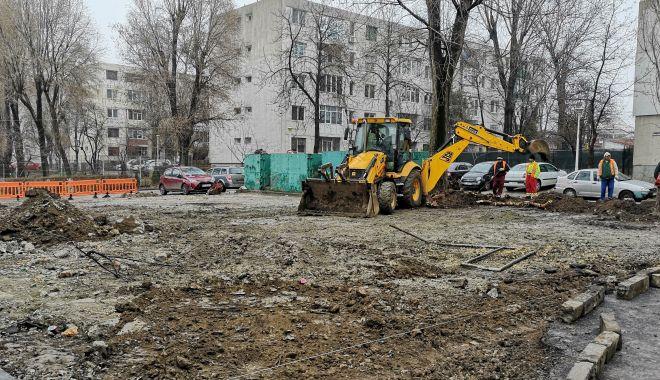 Foto: Noi locuri de parcare pentru constănţeni, în zona Şcolii nr. 39
