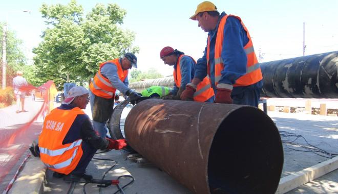 Foto: RAJA: Amplă lucrare la reţeaua de apă din nordul municipiului Constanţa. Vezi aici ce zone rămân fără apă