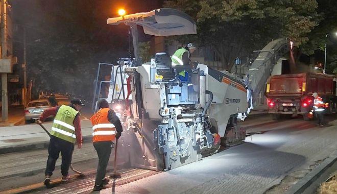 Foto: Restricții de trafic pe bulevardul Mamaia, pentru lucrări de reabilitare