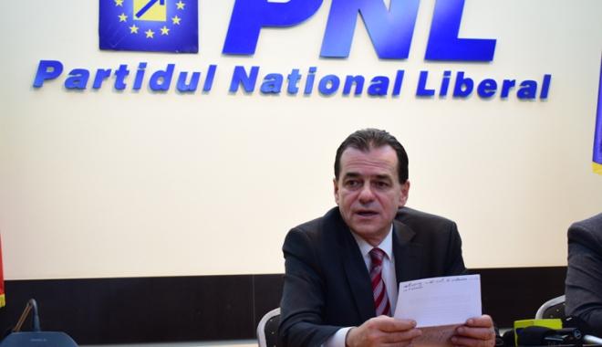 """Foto: Ludovic Orban: """"E o ruşine pentru PSD că se prezintă  cu o asemenea listă de guvern"""""""