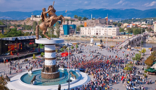 Foto: Macedonia, discuţii în paralel cu Grecia şi Uniunea Europeană
