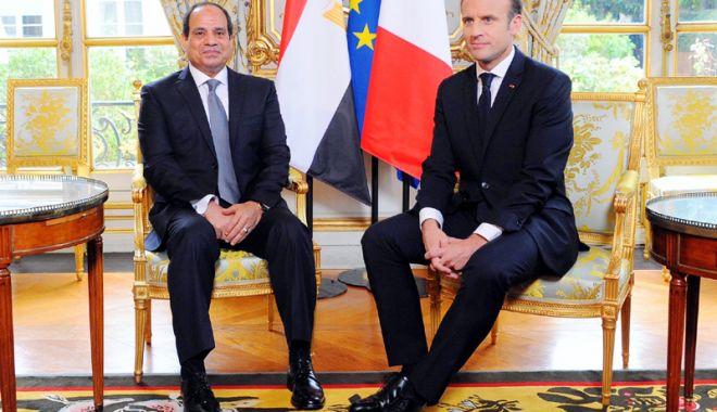 Foto: Macron şi Al-Sissi doresc o soluţie politică în cazul Siriei