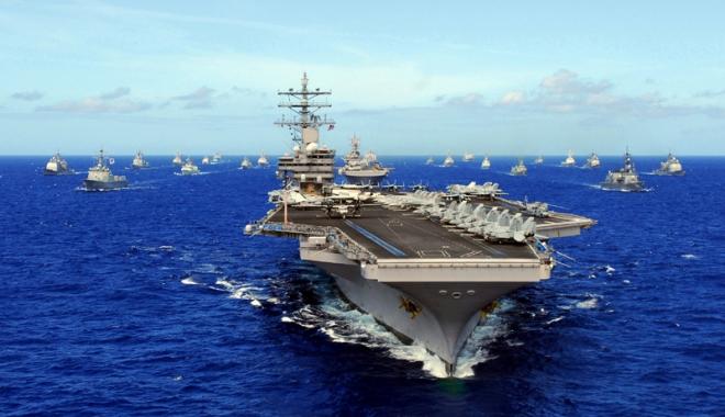 Foto: Manevre aeronavale  americano-japoneze, pe fondul tensiunilor legate de Coreea de Nord