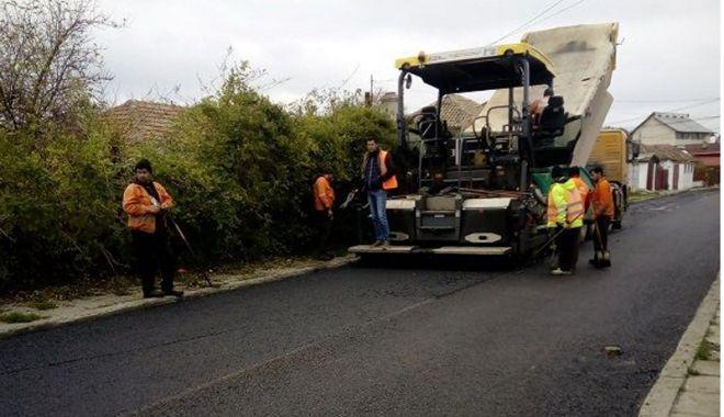 Foto: Primăria Mangalia continuă proiectul de asfaltare a străzilor din oraș