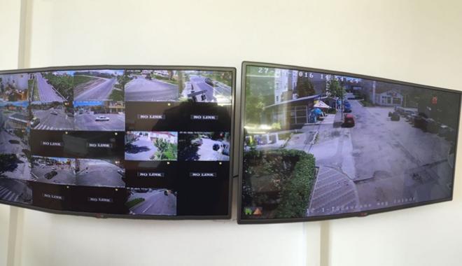 Foto: Sistemul  de supraveghere video, pus  �n func�iune  la Mangalia