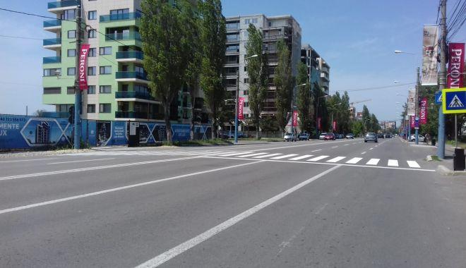 Foto: Marcaje rutiere din Constanţa, refăcute