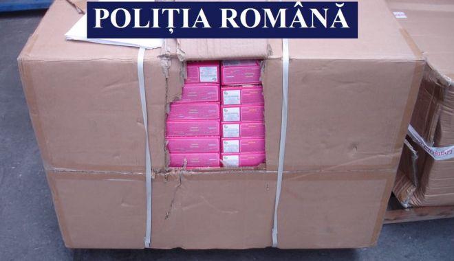 Foto: Mărfuri contrafăcute identificate de Serviciul de Poliție Transporturi Marine