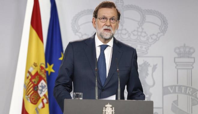 Foto: Mariano Rajoy: Spania nu va fi divizată, unitatea sa naţională  va fi apărată