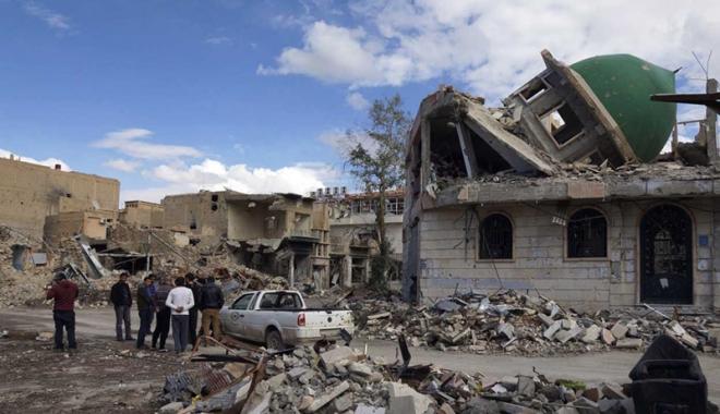 Foto: Masacru în Siria! 10 copii,  ucişi în raiduri aeriene, în estul ţării