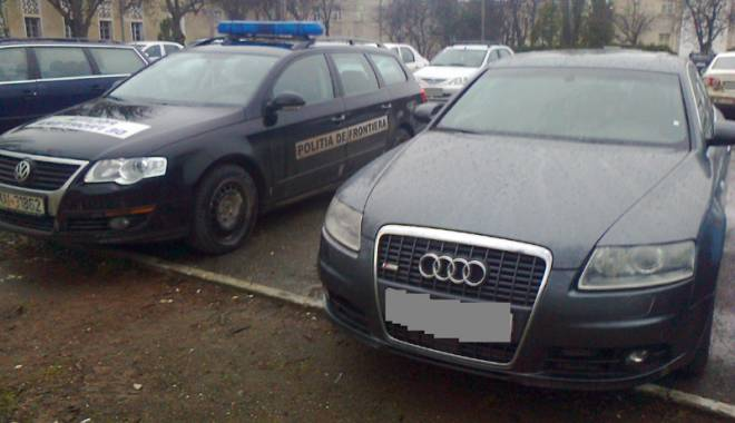 Foto: Ma�ini furate din Germania, confiscate  de poli�i�ti