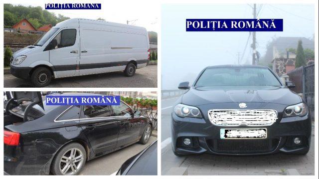 Foto: Maşini căutate de autorităţile britanice, descoperite în România
