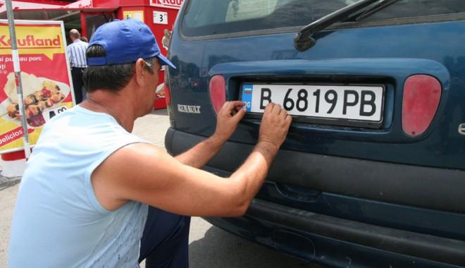 Foto: Cum vor interzice poliţiştii maşinile înmatriculate în Bulgaria