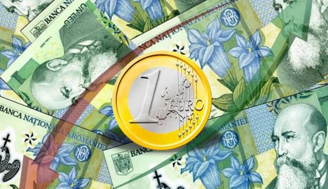 Foto: Euro a pierdut 0,03% în lupta cu leul. Iată cotaţia zilei