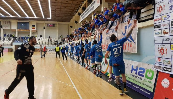 """Foto: HC Dobrogea Sud a răpus campioana Dinamo. """"Am avut un public extraordinar!"""""""