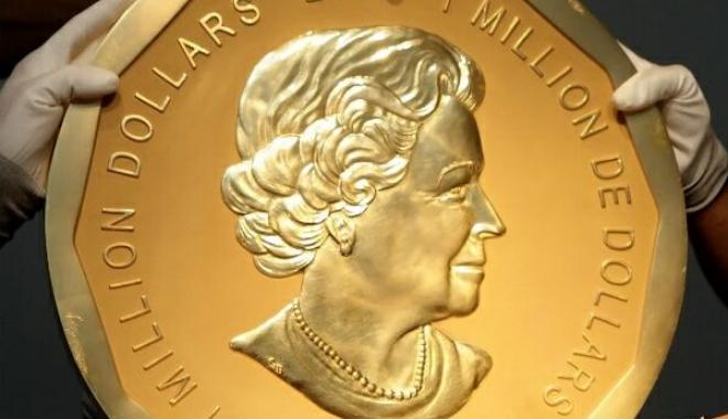 Foto: JAF DE PROPORŢII. Marea Frunză de Arţar, cea mai mare medalie de aur din lume, a fost furată