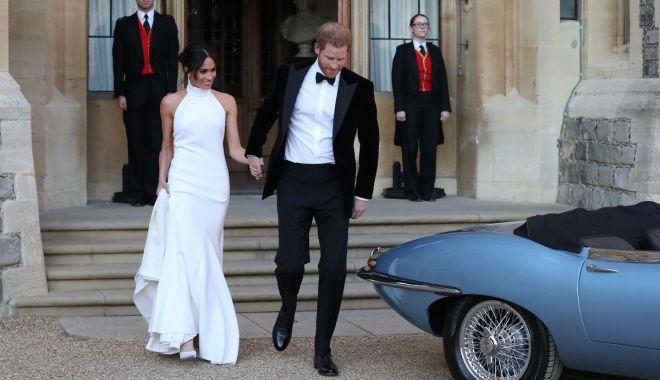 Foto: Nuntă regală / Meghan a purtat inelul Prințesei Diana la recepţia de seară