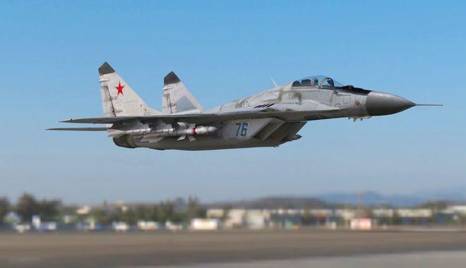 Foto: Un avion militar MiG-29 s-a prăbuşit. Pilotul a murit