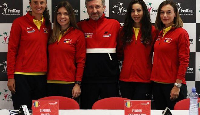"""Foto: Mihaela Buzărnescu deschide """"balul"""", în confruntarea cu Cehia, din FED Cup"""