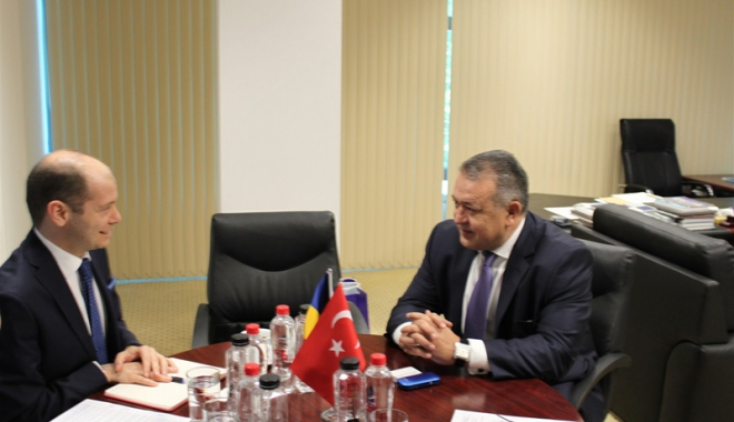 Foto: Mihai Daraban a primit vizita consulului general al Republicii Turcia la Constanţa