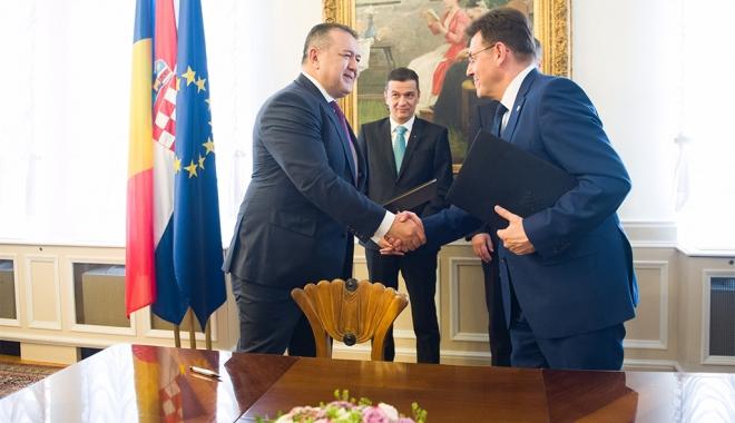 Foto: Mihai Daraban, preşedintele CCIR, în vizită oficială în Croaţia